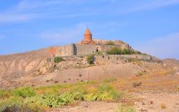 Klooster Khor Virap achter de muren Lusarat armenië Royalty-vrije Stock Afbeelding