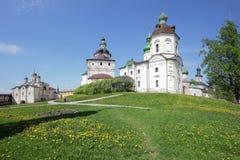 Klooster kirillo-Belozersky Stock Afbeeldingen