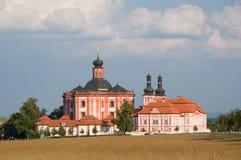 Klooster Marianska Tynice Westelijke Bohemen, Tsjechische Republiek stock foto's