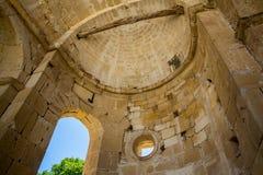 Klooster in Messara-Vallei bij het eiland van Kreta in Griekenland Messara - is grootste vlakte in Kreta Royalty-vrije Stock Fotografie