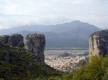 Klooster in meteora royalty-vrije stock afbeeldingen
