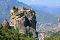 Klooster in Meteora, Griekenland Stock Afbeeldingen