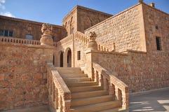 Klooster Mor Gabriel Zuidoostelijk Turkije Dichtbij de stad van Midiat stock foto's