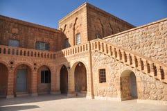 Klooster Mor Gabriel Zuidoostelijk Turkije Dichtbij de stad van Midiat stock afbeeldingen