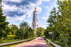 Klooster nikolo-Berlyukovskaya met Avdotino Stock Foto