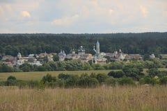 Klooster op het gebied Stock Fotografie