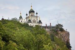 Klooster op rok Stock Foto