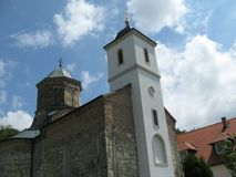 Klooster, Ortodox, Heilige Petka, de berg van Heilige, Fruska Gora, Vojvodina, Servië stock foto