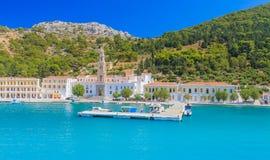Klooster Panormitis Het eiland van Symi royalty-vrije stock fotografie