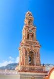 Klooster Panormitis Het eiland van Symi Griekenland royalty-vrije stock foto