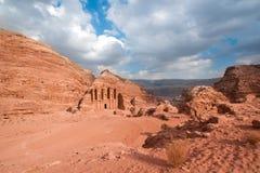Klooster in Petra, Jordanië Royalty-vrije Stock Afbeelding