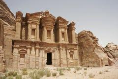 Klooster, Petra, Jordanië, het Midden-Oosten Stock Afbeelding