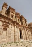 Klooster, Petra, Jordanië, het Midden-Oosten Stock Fotografie
