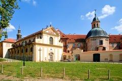 Klooster Plasy stock foto's