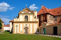 Klooster Plasy royalty-vrije stock afbeelding