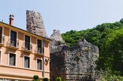Klooster Ravanica, 14de eeuw, Servië, een deel van loge en ruïnes van vesting Stock Foto