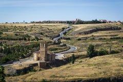 Klooster, Segovia, Castilla en Leon, Spanje stock afbeelding