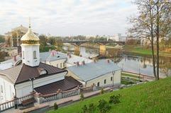 Klooster svyato-Duhov in Vitebsk Wit-Rusland Stock Afbeelding