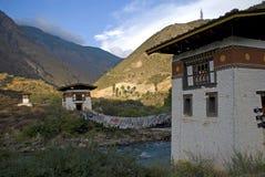 Klooster, Tamchhog Lhakhang, Bhutan stock foto