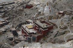 Klooster in Tibet stock afbeeldingen