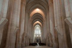 Klooster van Alcobaça, in Portugal, als patrimonium van het mensdom door Unesco wordt geclassificeerd die stock fotografie