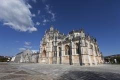 Klooster van Batalha Meesterwerk van de Gotische en Manueline-architectuur Stock Afbeeldingen