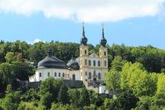 Klooster van capuchins in Wurzburg stock foto's