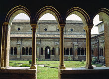Klooster van Chiaravalle-della Colomba Royalty-vrije Stock Afbeeldingen