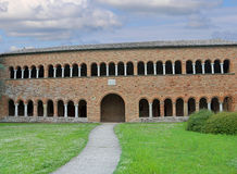 klooster van de Abdij van Pomposa in Italië Stock Foto