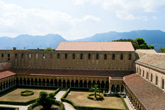 Klooster van de Kathedraal van Monreale Stock Fotografie