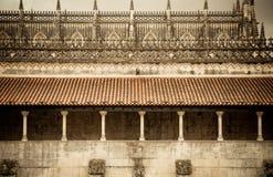 Klooster van detail Batalha Stock Foto