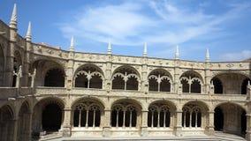 Klooster van jeronimos, Lissabon Stock Foto's