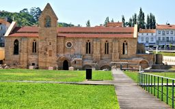 Klooster van Kerstman Clara Velha in Coimbra Royalty-vrije Stock Afbeeldingen