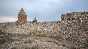 Klooster van Khor Virap, kloostermuren Royalty-vrije Stock Fotografie