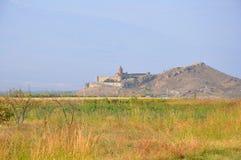Klooster van Khor Virap Lusarat armenië Stock Foto