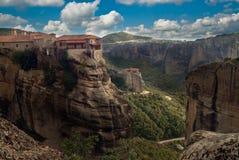Klooster van Meteora, Griekenland Stock Foto's