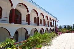 Klooster van Panagia Kalyviani op het eiland van Kreta, Griekenland Royalty-vrije Stock Afbeeldingen