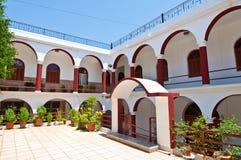 Klooster van Panagia Kalyviani op het eiland van Kreta, Griekenland Stock Afbeeldingen