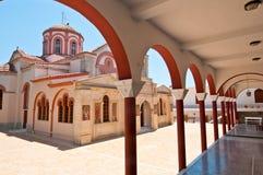 Klooster van Panagia Kalyviani op het eiland van Kreta, Griekenland Royalty-vrije Stock Afbeelding