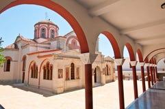 Klooster van Panagia Kalyvianion het eiland van Kreta Stock Afbeeldingen