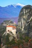 Klooster van Rousanou of St Barbara Monastery in Meteora royalty-vrije stock afbeelding