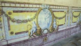 Klooster van Santa Cruz Azulejos stock footage