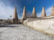Klooster van Santa MarÃa DE las Cuevas La Cartuja, Sevilla, Spanje Oven voor ceramische productie Stock Afbeelding