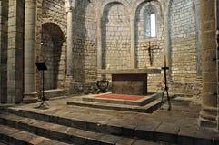 Klooster van Santa Maria DE vilabertran Stock Afbeeldingen