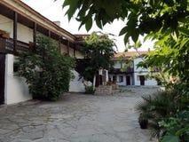 Klooster van St George in Pomorie Historische plaatsen van Bulgarije royalty-vrije stock foto's