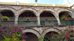 Klooster van streng Cartagena - Colombia royalty-vrije stock afbeeldingen