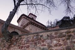Klooster van Suso, in San Millan DE La Cogolla, La Rioja, Spanje stock afbeelding