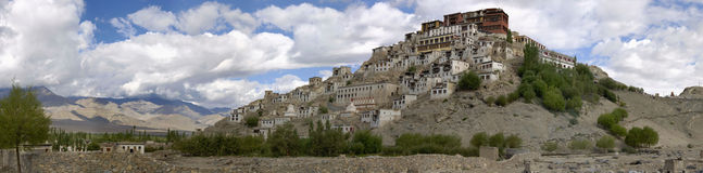 Klooster van Thikse, Ladakh, India Stock Afbeelding