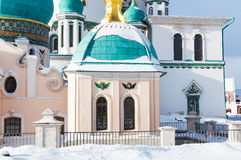 Klooster van Voskresensky het Nieuwe Jeruzalem stock foto