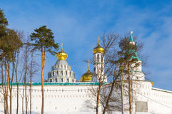 Klooster van Voskresensky het Nieuwe Jeruzalem stock fotografie